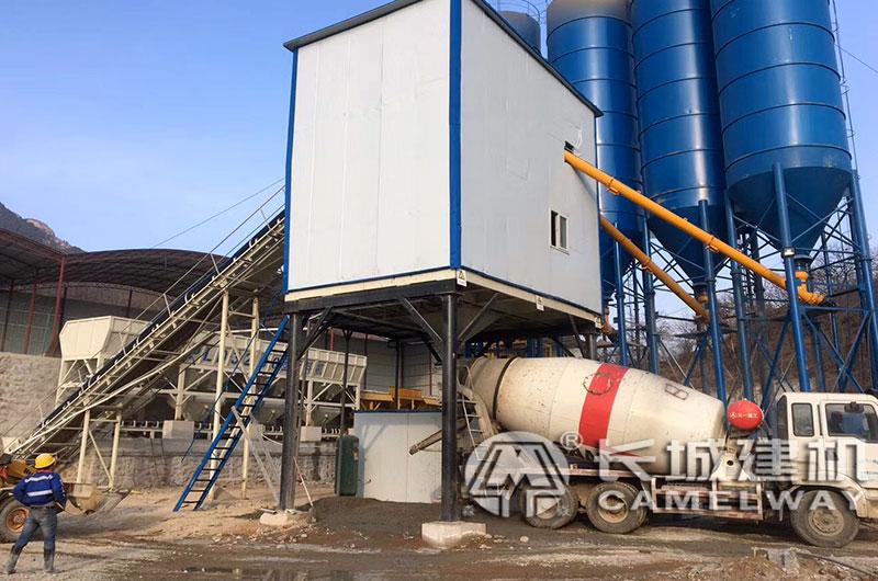 JS1500混凝土搅拌机客户现场