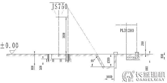 js750搅拌机地基图