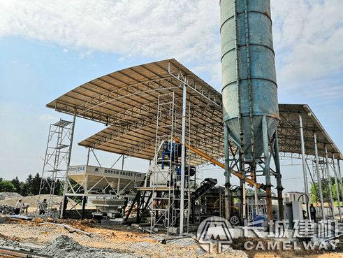 湖北咸宁砖厂35小型简易搅拌站