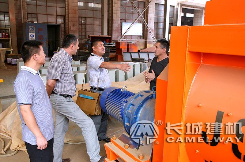 工程混凝土搅拌机厂区