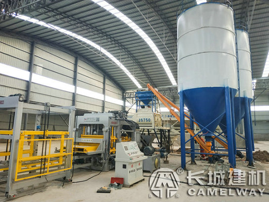 河南濮阳砖机生产线35小型商混搅拌站