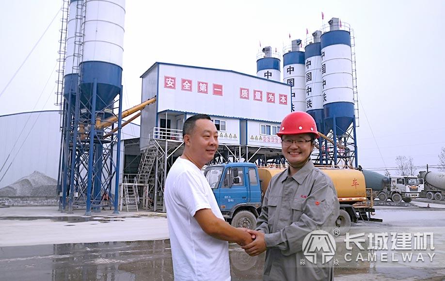 中铁两条120搅拌商砼生产线安装完成