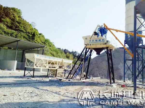 长城建机预制构件专用1000型混凝土搅拌站
