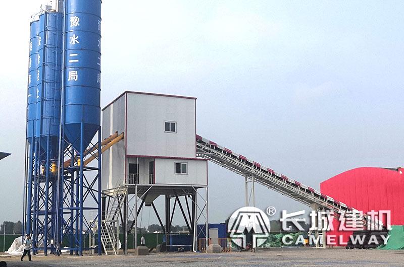长城建机120商混搅拌站生产线全套设备