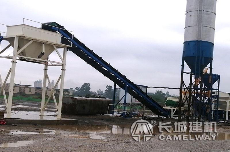 水稳搅拌机生产线现场